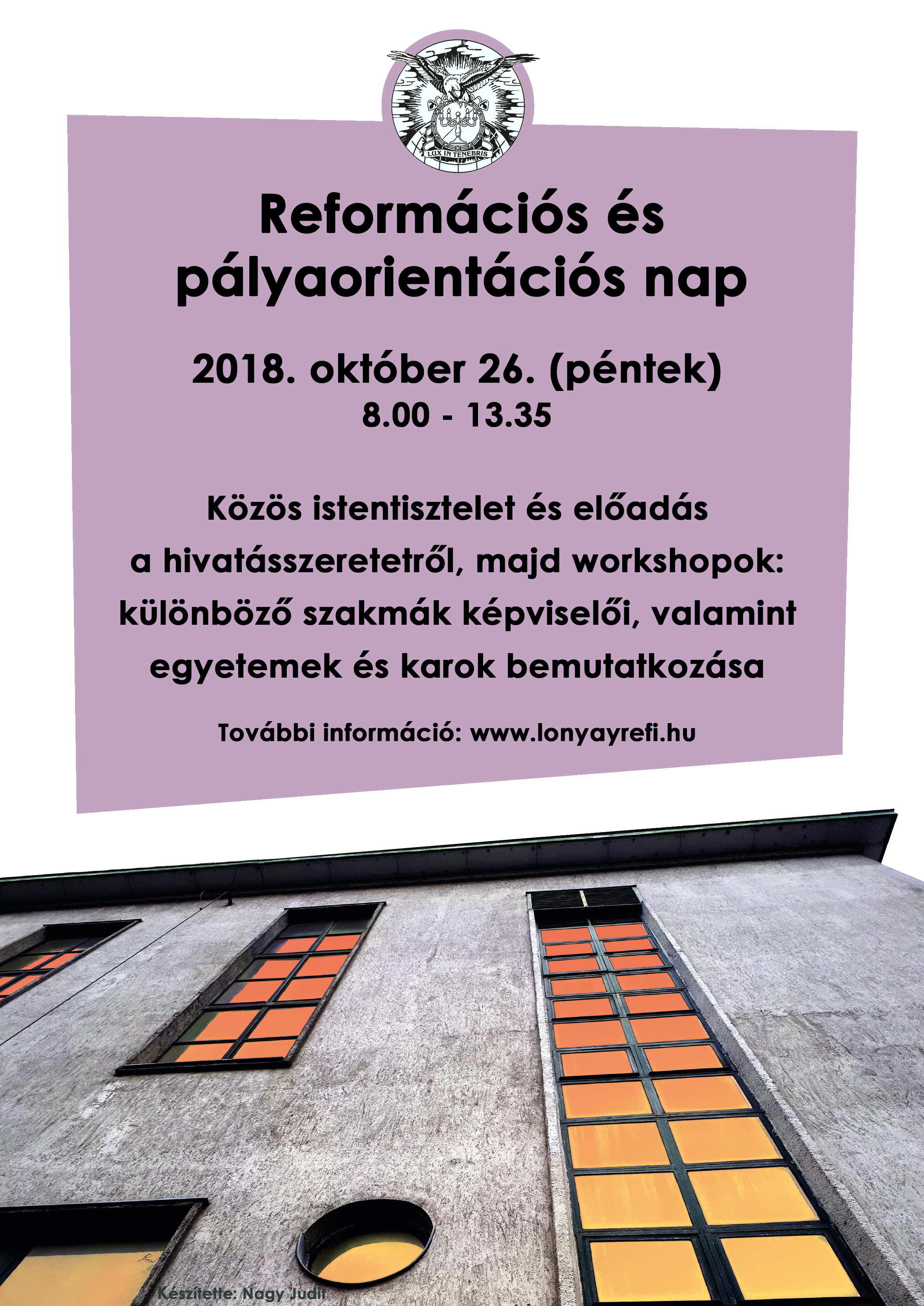 Reformációs és pályaorientációs nap